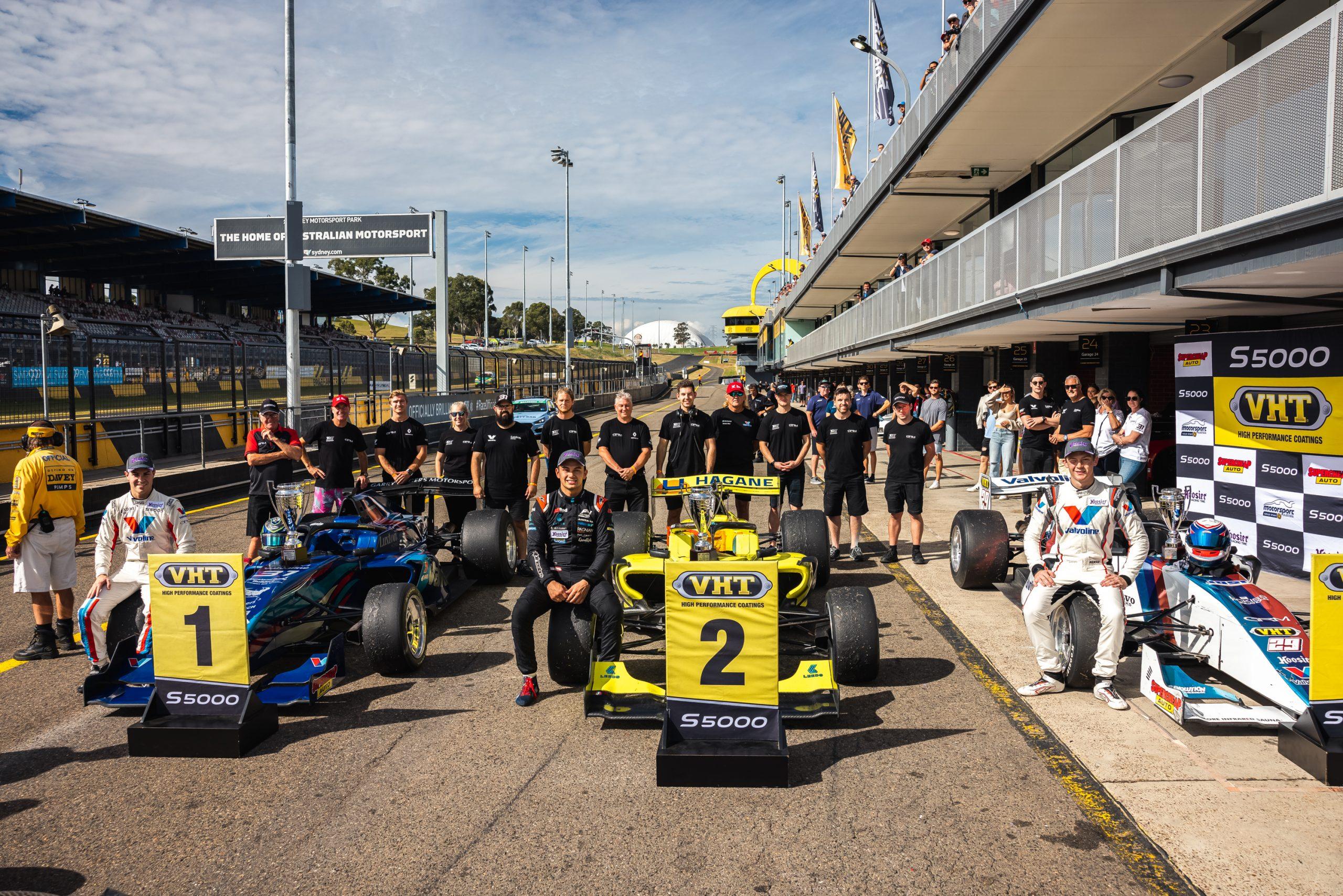 GRM 1-2-3 in final S5000 Race