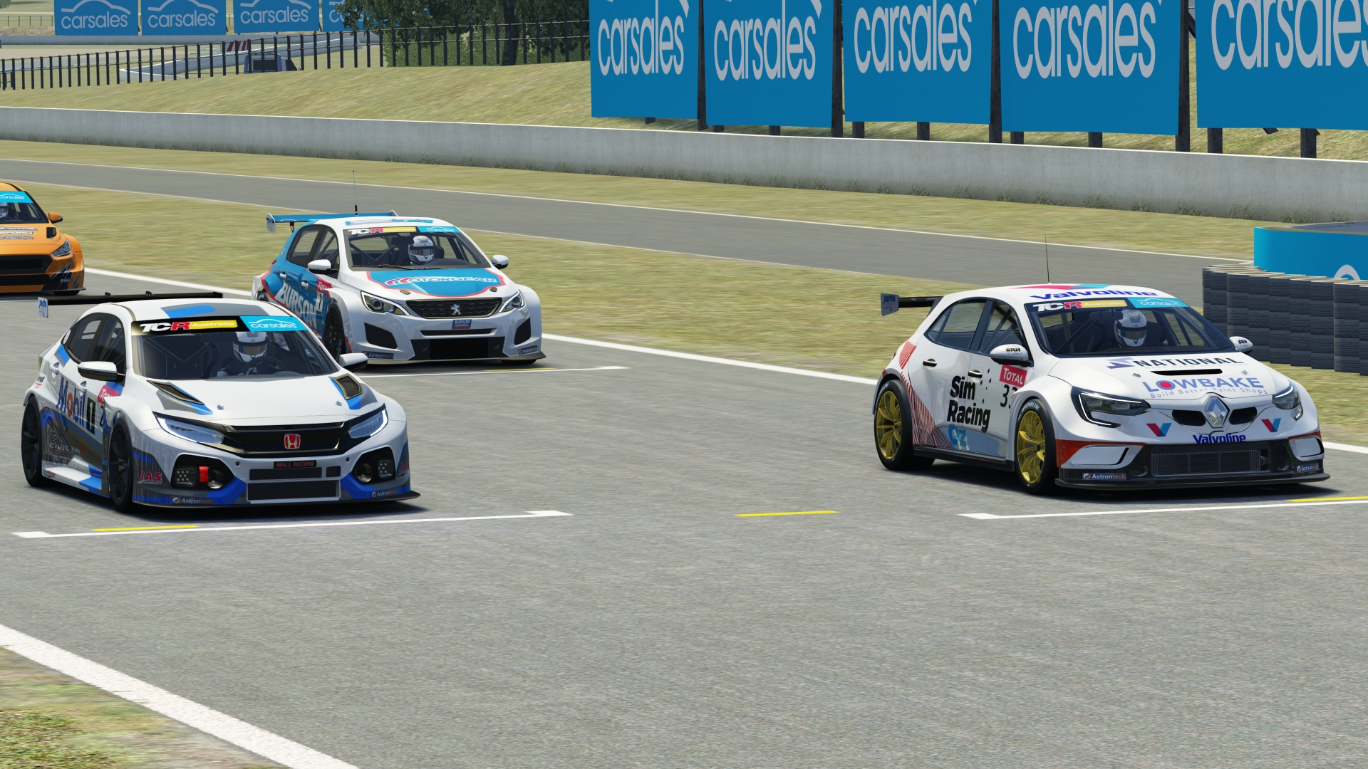 Dylan O'Keeffe collects another race victory in the TCR Australia SimRacing