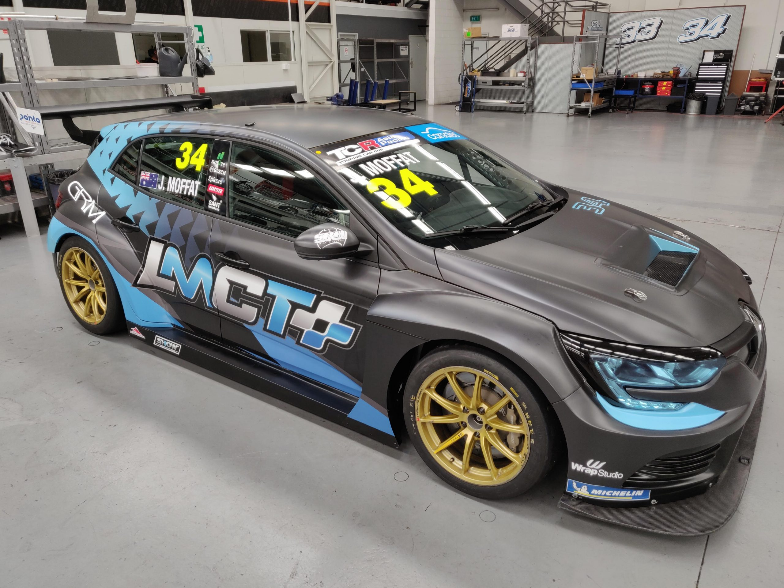 New look and sponsor for James Moffat's TCR Renault