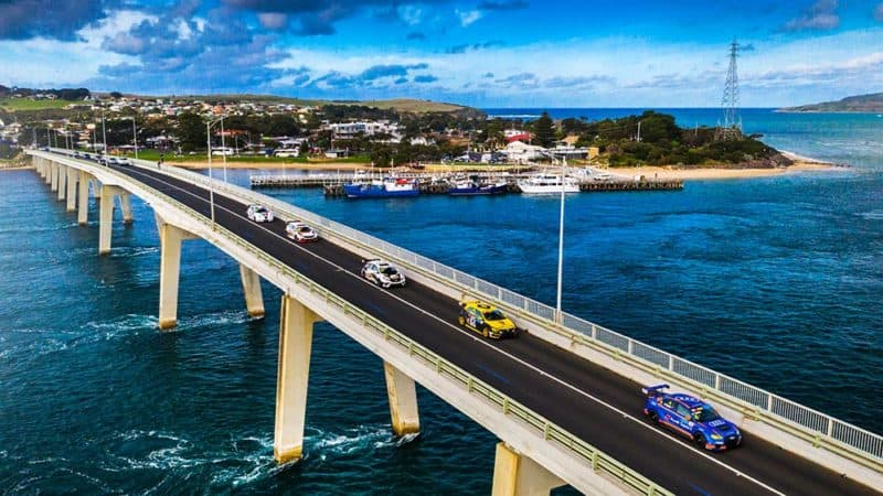 TCR Series cars create history with San Remo Bridge crossing