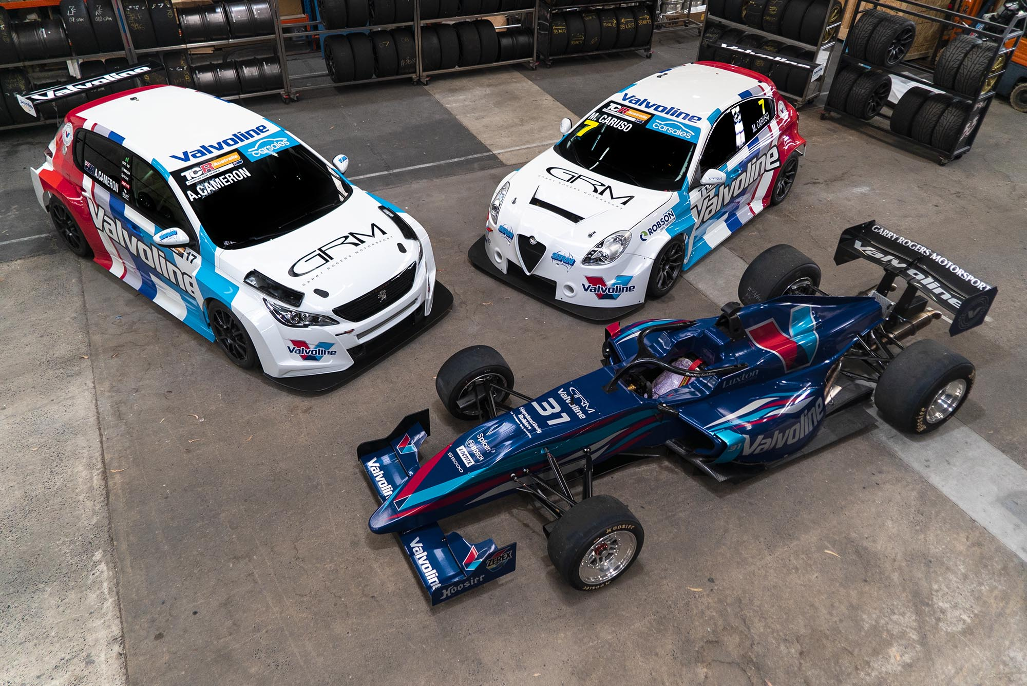 Team Valvoline GRM unveils three-car attack